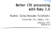 Better CSV processing with Ruby 2.6
